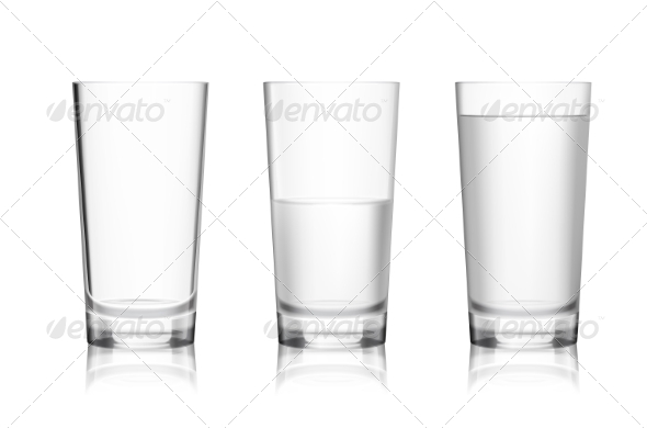 GraphicRiver Full and Empty Glass 8014045