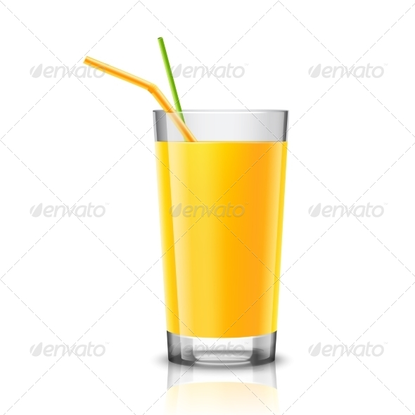 GraphicRiver Orange Juice Glass 8014053