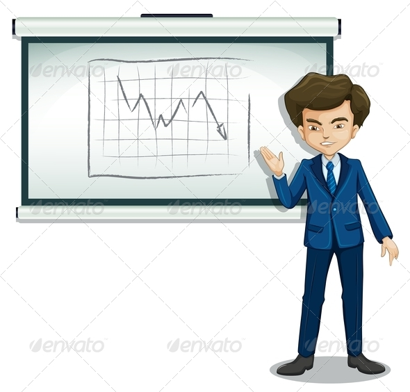 GraphicRiver Businessman Explaining Chart 8014054