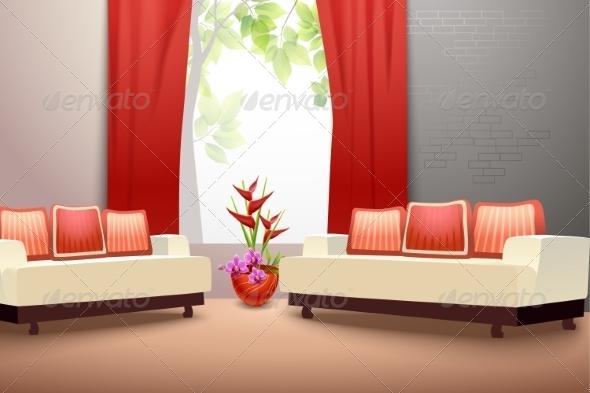 GraphicRiver Interior Design Living Room 8014055
