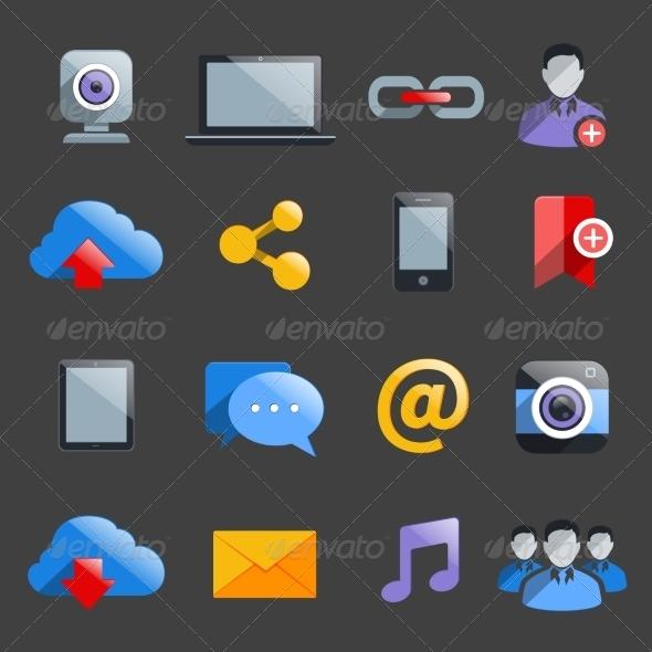 GraphicRiver Social Media Icons 8014092