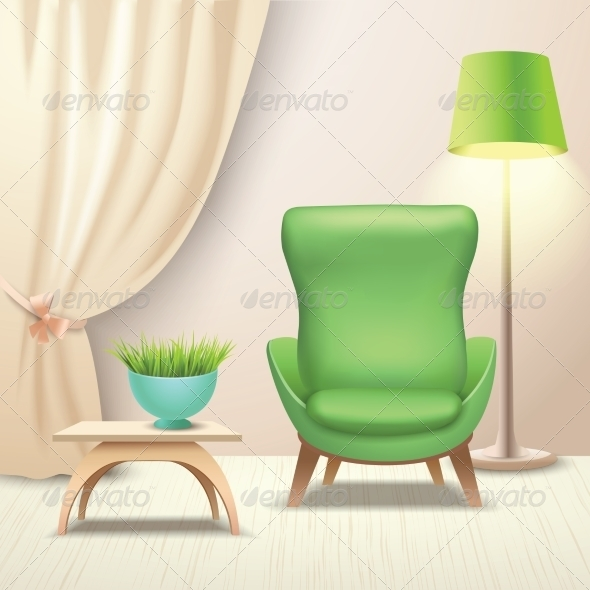 GraphicRiver Interior Design Armchair 8014104