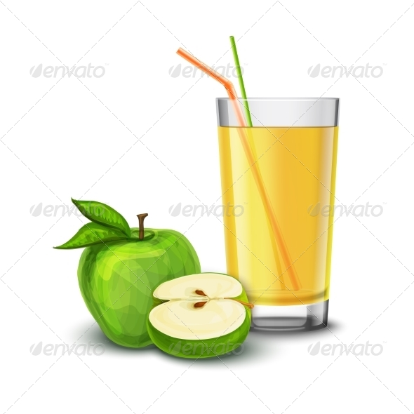 GraphicRiver Apple Juice Glass 8014108
