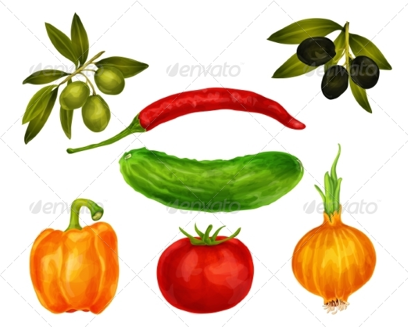 GraphicRiver Vegetables Set 8014170