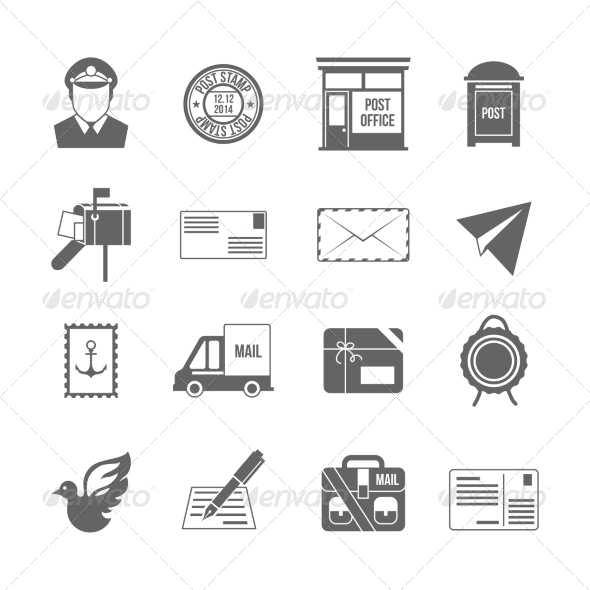 GraphicRiver Post Service Icons 8014172