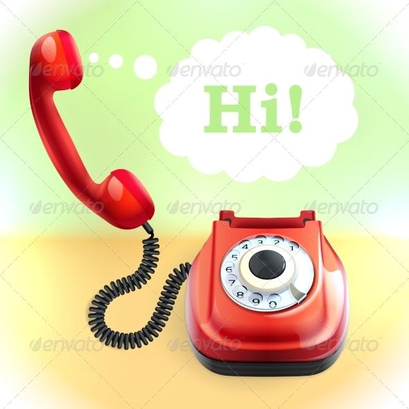 GraphicRiver Retro Style Telephone Background 8014186