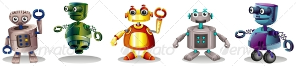 GraphicRiver Set of Robots 8014535