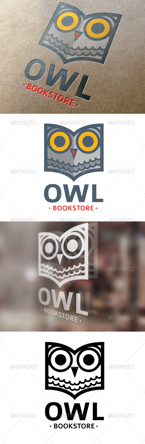GraphicRiver Owl Bookstore Logo 8014577