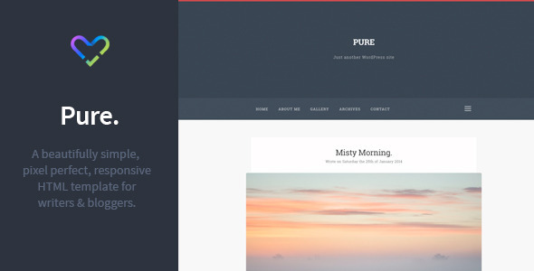 Pure - Responsive Blogging HTML Template.