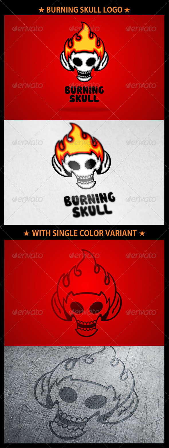 Burning Skull Logo
