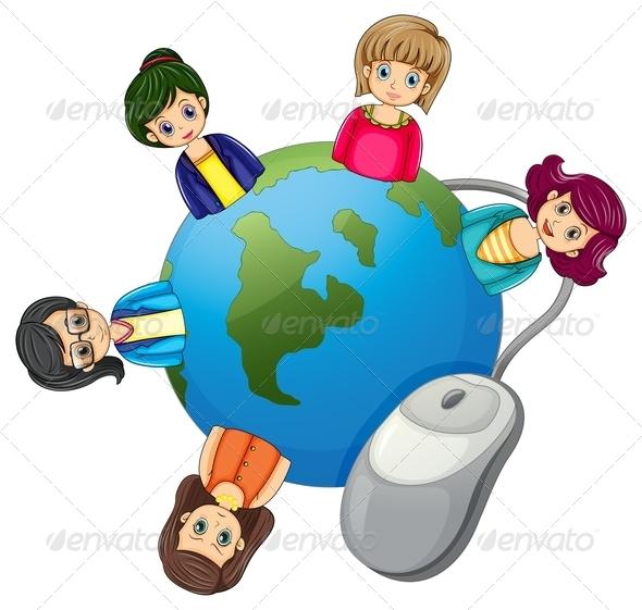 GraphicRiver Globe with Businesswomen 8014646
