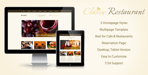 ThemeForest Classical Restaurant Muse Theme 8014648