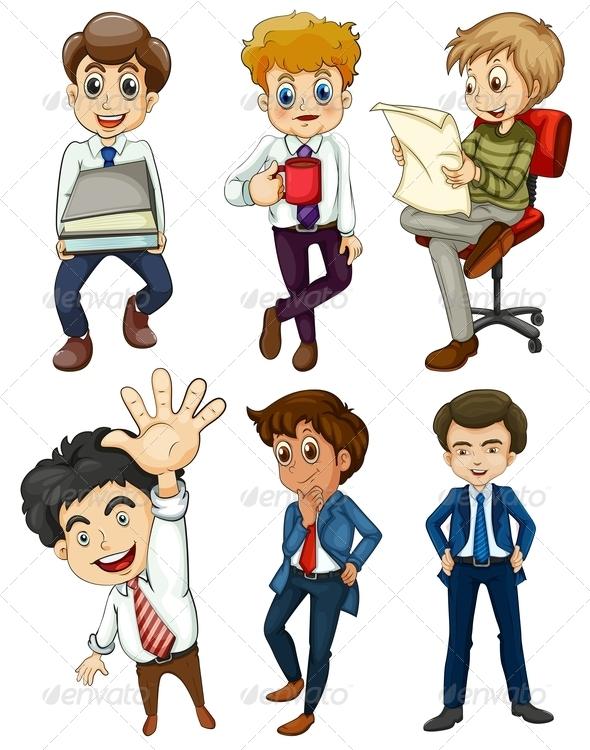GraphicRiver Set of Businessmen 8014649