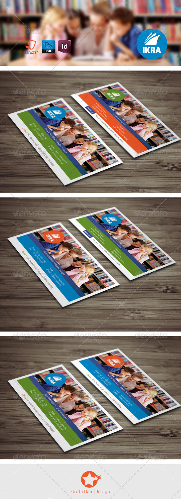 GraphicRiver School Book Business Card Templates 8002749