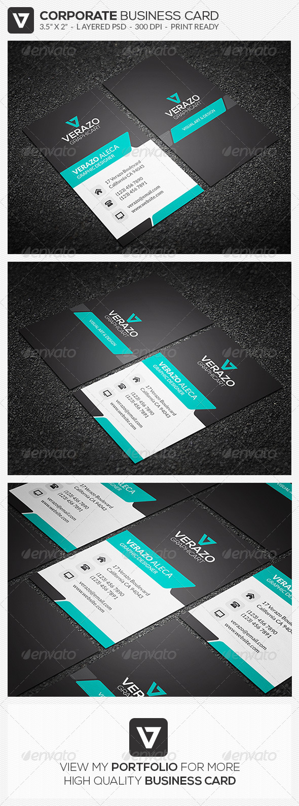 GraphicRiver Modern Corporate Business Card 40 8014659