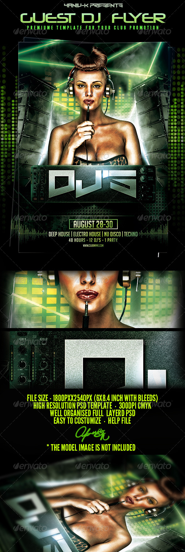 GraphicRiver Electro Deep House Special Guest Dj 8014675