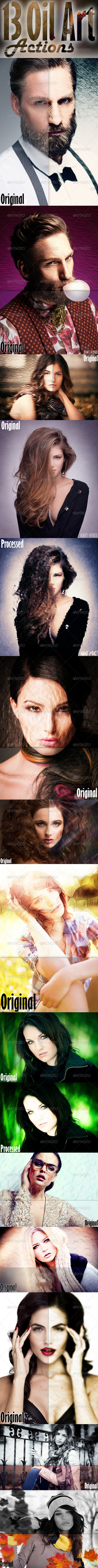 GraphicRiver 13 Oil Art Actions 8014739