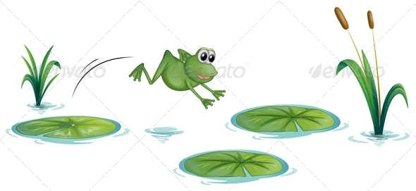 GraphicRiver Frog at the Pond 8015367