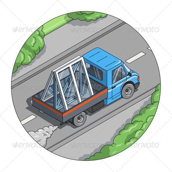 GraphicRiver Car Carry Window 8015438