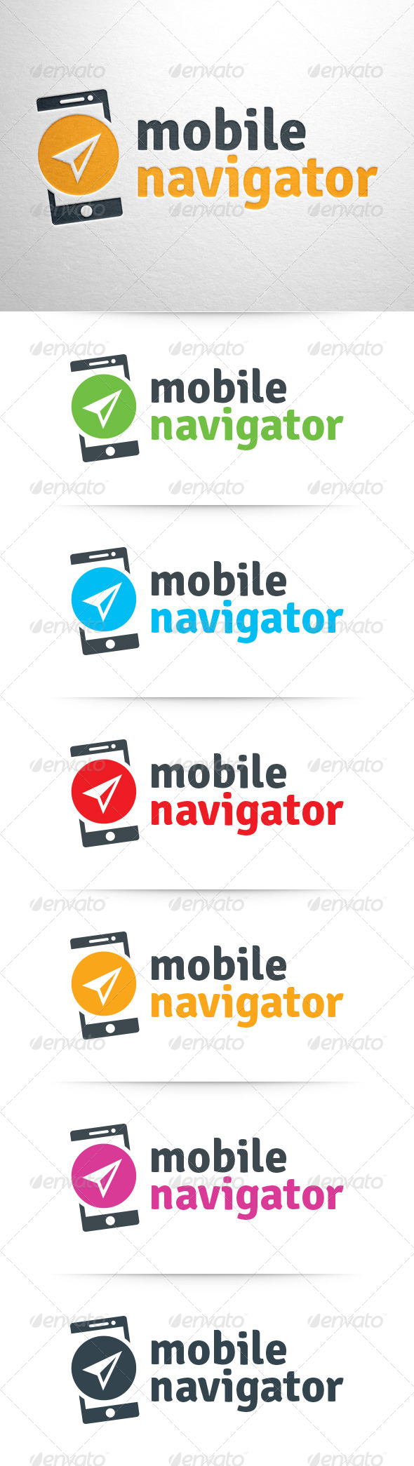 GraphicRiver Mobile Navigator Logo Template 8015580