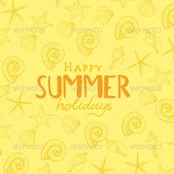 GraphicRiver Summer Holidays Background 8015638