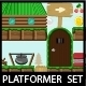 Platformer Game Tileset Forest Theme