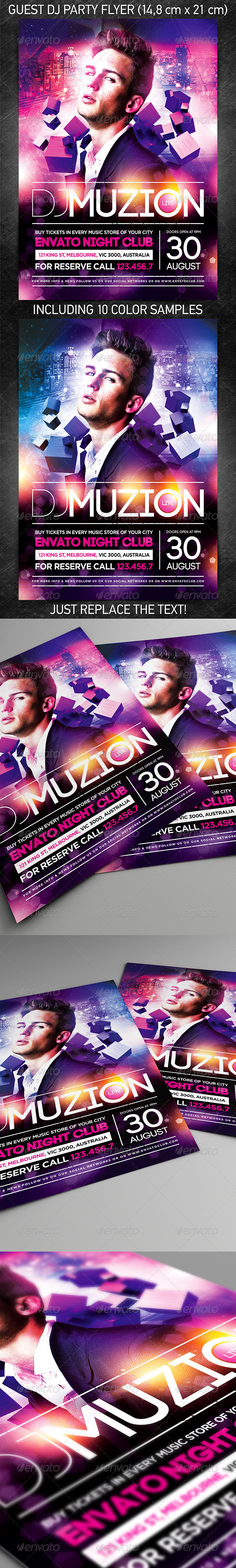 GraphicRiver Guest DJ party flyer vol.4 8016241