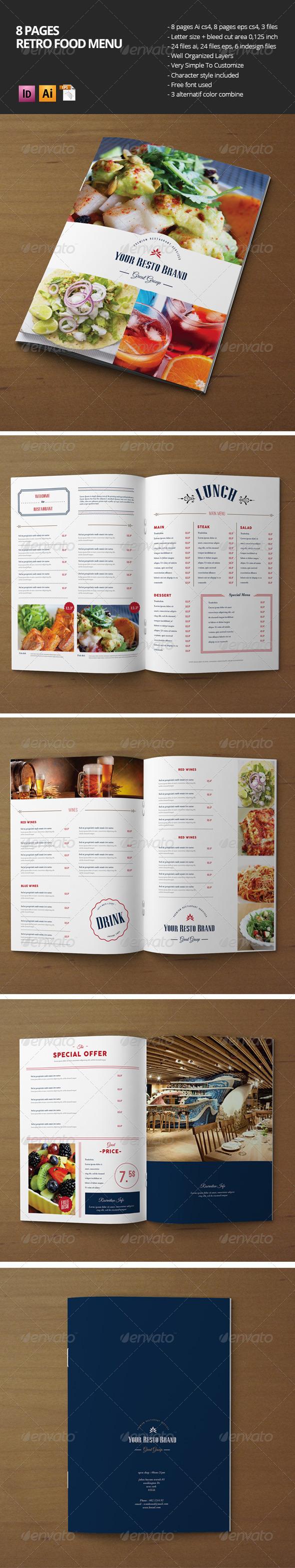GraphicRiver Retro Food Menu 8016334