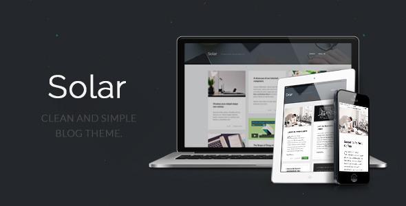 Solar - Responsive Blog Theme
