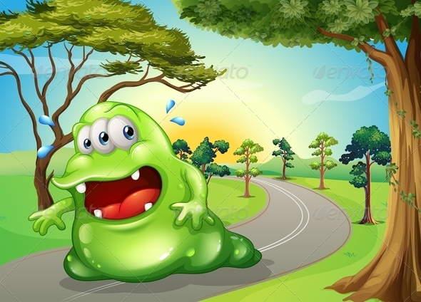 GraphicRiver Fat Monster on Path 8016397