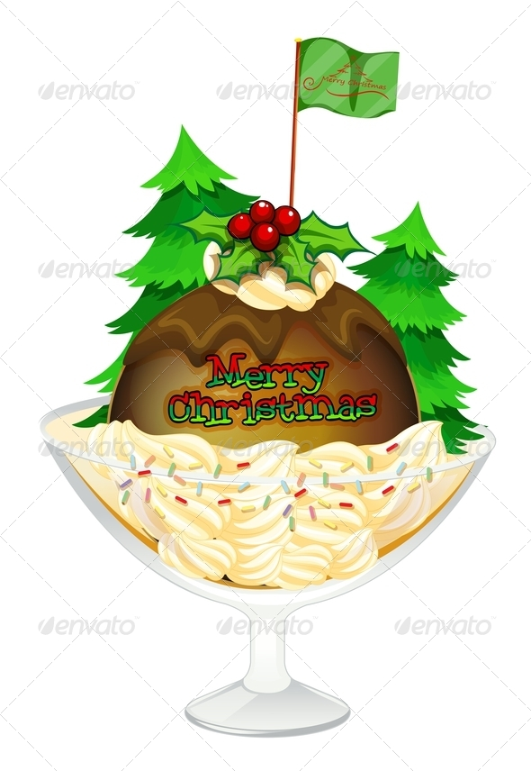 GraphicRiver Christmas Pudding 8016567