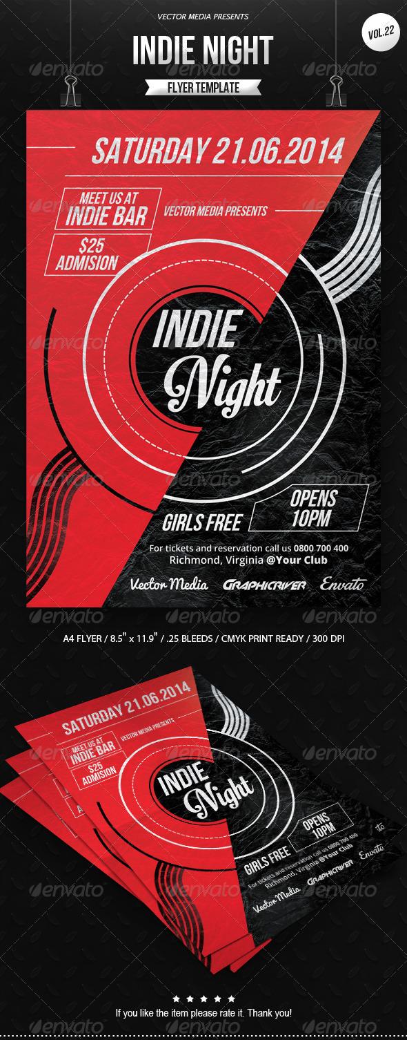 GraphicRiver Indie Night Flyer [Vol.22] 8016608
