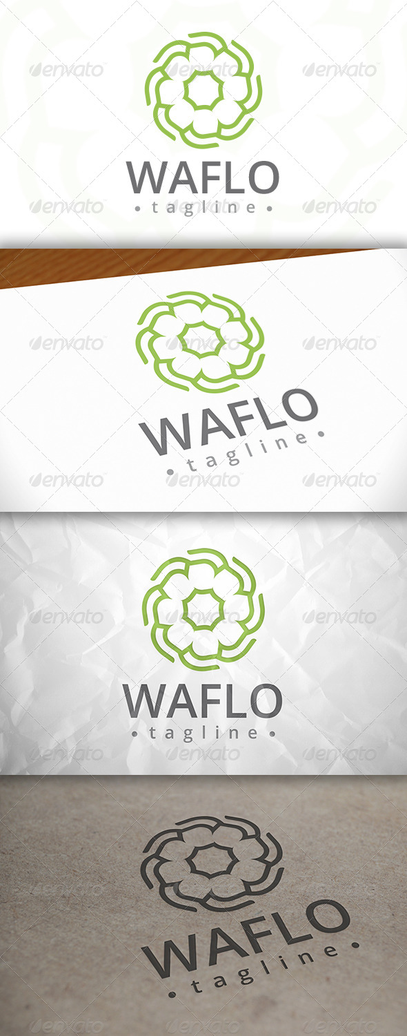 GraphicRiver Water Lily Logo 8016829