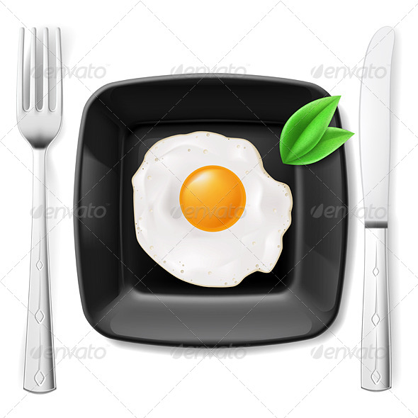 GraphicRiver Served Fried Egg 8016857