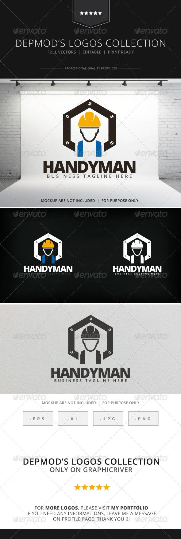 GraphicRiver Handyman Logo 8017021