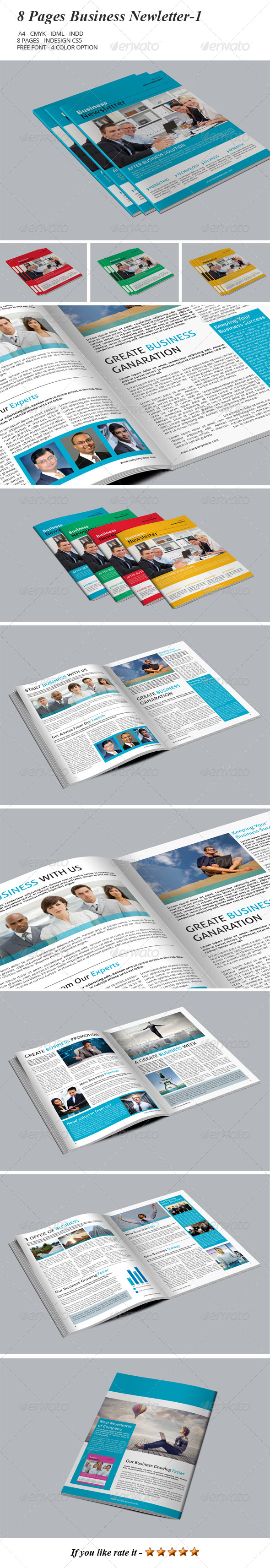 GraphicRiver 8 Pages Business Newsletter-1 8017119