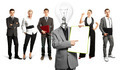 Business Team With Lamp Head - PhotoDune Item for Sale