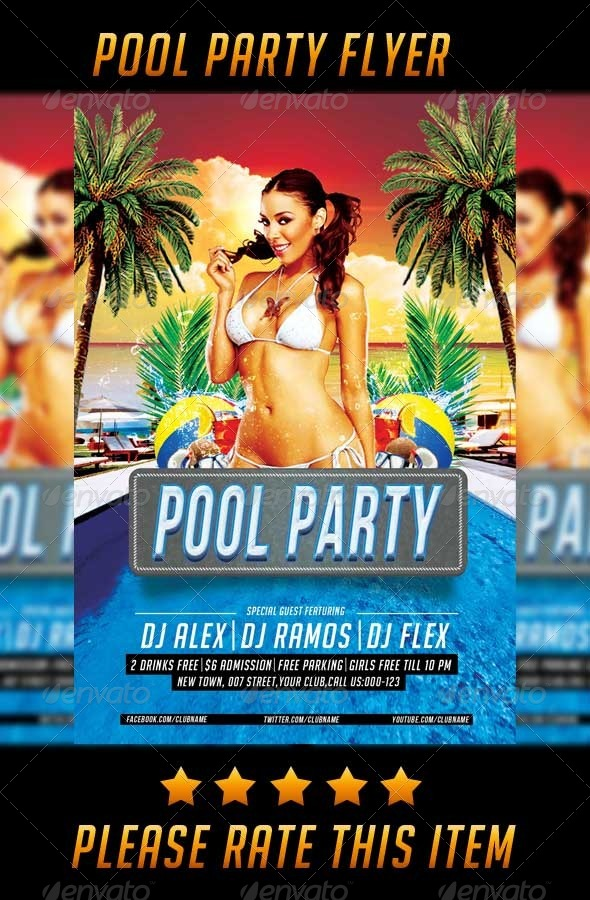 GraphicRiver Pool Party Flyer 8005989