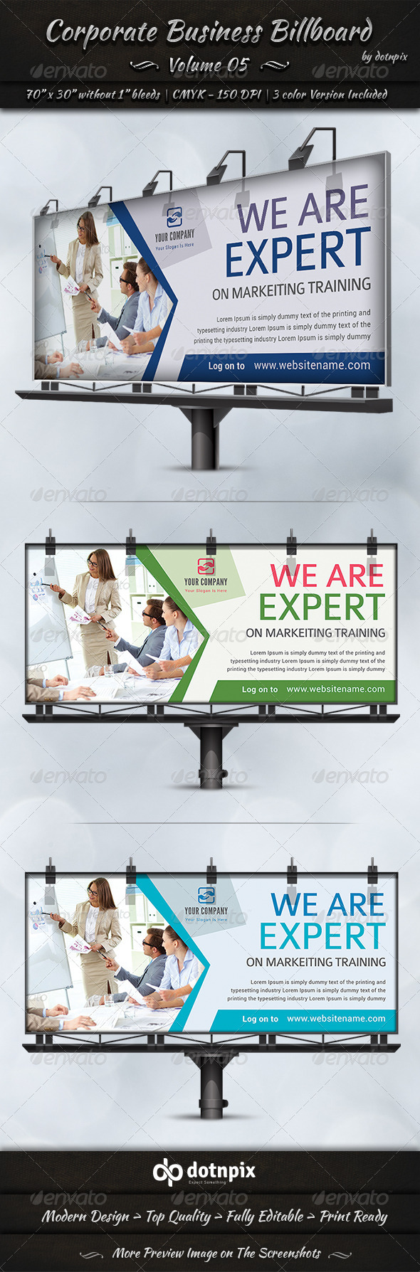 GraphicRiver Corporate Business Billboard Volume 5 7990456