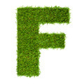 Letter F made of green grass isolated on white - PhotoDune Item for Sale