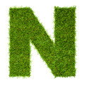 Letter N made of green grass isolated on white - PhotoDune Item for Sale