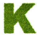 Letter K made of green grass isolated on white - PhotoDune Item for Sale