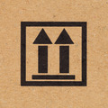 Close up up icon on paper box background - PhotoDune Item for Sale