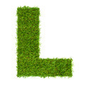 Letter L made of green grass isolated on white - PhotoDune Item for Sale