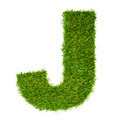 Letter J made of green grass isolated on white - PhotoDune Item for Sale