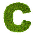Letter C made of green grass isolated on white - PhotoDune Item for Sale