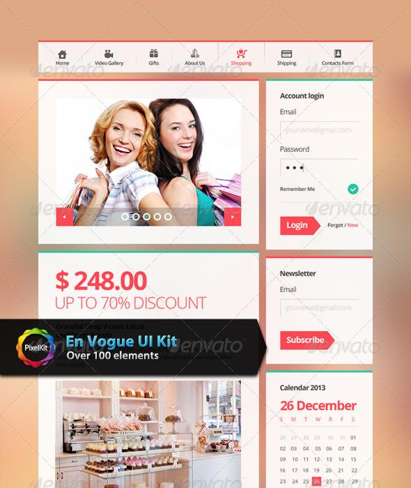 GraphicRiver En Vogue UI Kit 7937035