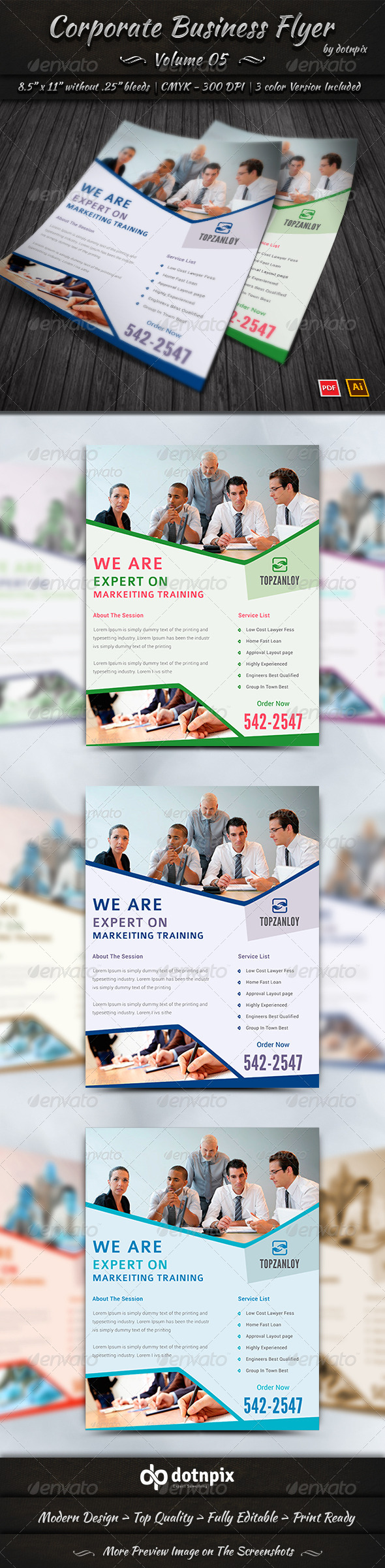GraphicRiver Corporate Business Flyer Volume 5 7989614