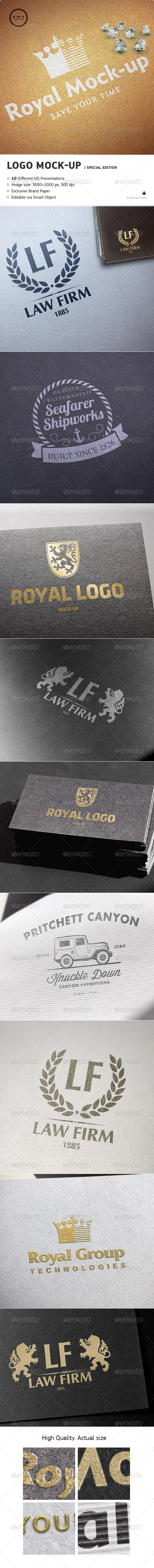 GraphicRiver Logo Mock-Up Special Edition 8018301