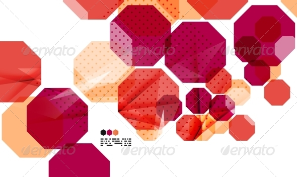 GraphicRiver Bright red geometric Modern Design Template 8018472